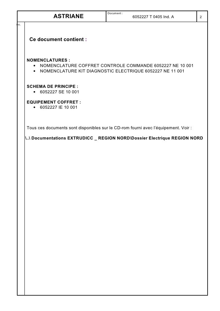 Document :                    ASTRIANE                                6052227 T 0405 Ind. A           2    . Ind          ...