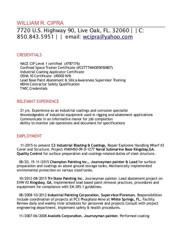 resume cip 1