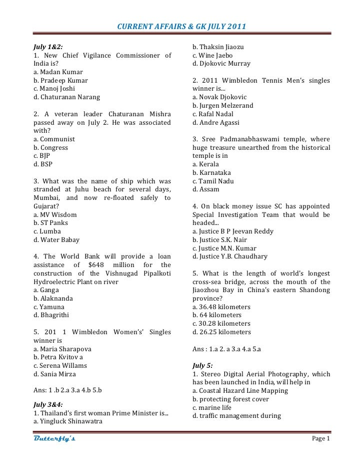 60622095 current-affairs-gk-july-2011