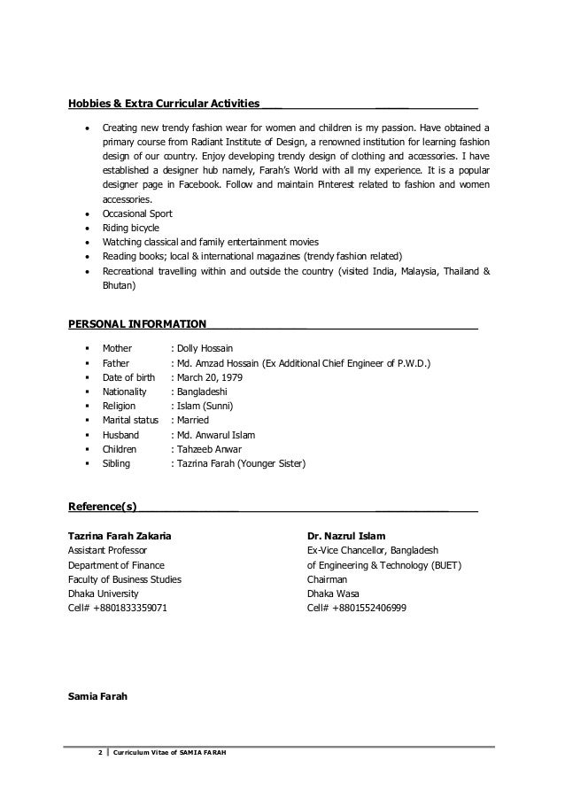 CV of Samia Farah Slide 2