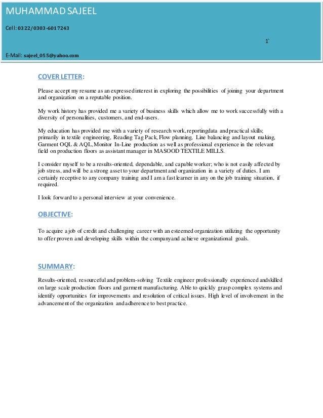 m sajeel resume   cover letter  1
