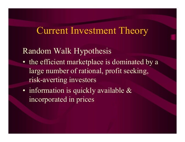 random walk theory finance pdf