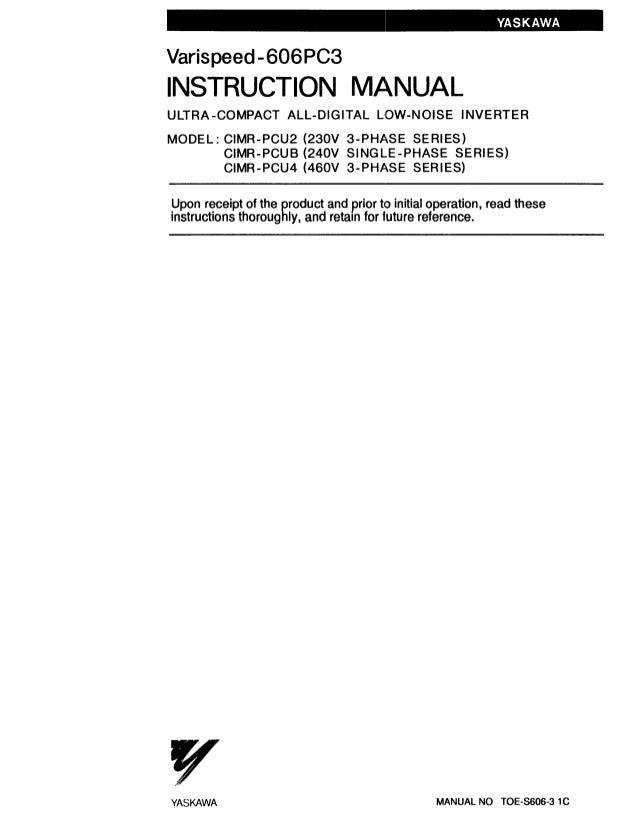 606 pc3 Magnetic Contactor Wiring Diagram Ph Yaskawa on