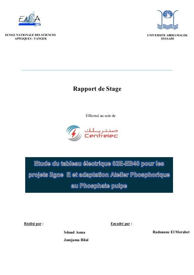 Rapport de Stage Effectué au sein de Réalisé par : Encadré par : Sdoud Asma Jamjama Bilal Radouane El Merabet ECOLE NATION...