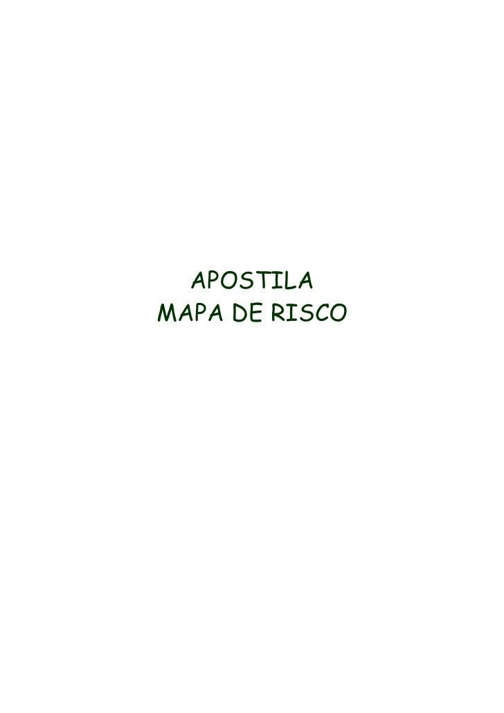 APOSTILA MAPA DE RISCO