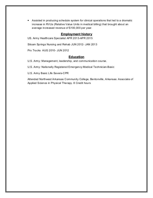 sample resume for employment