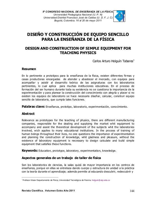 5º CONGRESO NACIONAL DE ENSEÑANZA DE LA FÍSICA. Universidad Pedagógica Nacional (U. P. N) Universidad Distrital Francisco ...