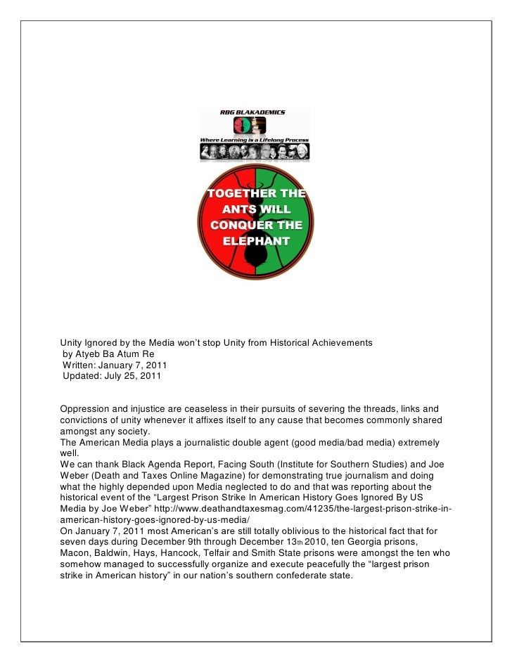 Unity Ignored by the Media won't stop Unity from Historical Achievementsby Atyeb Ba Atum ReWritten: January 7, 2011Updated...