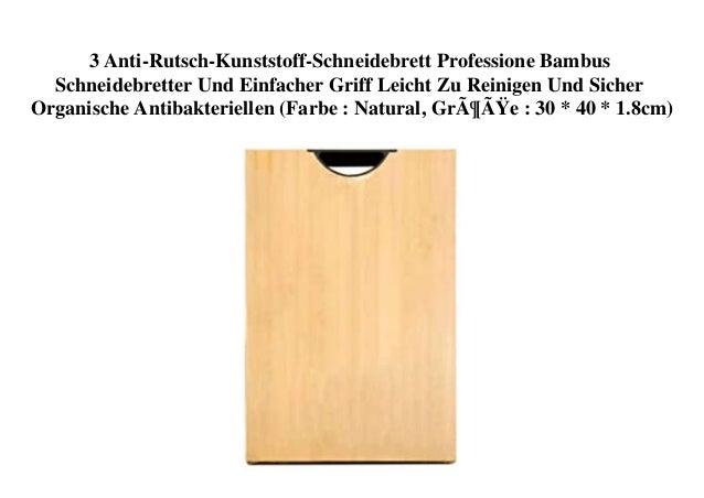 3 Anti-Rutsch-Kunststoff-Schneidebrett Professione Bambus Schneidebretter Und Einfacher Griff Leicht Zu Reinigen Und Siche...