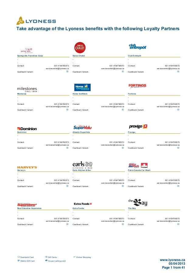Take advantage of the Lyoness benefits with the following Loyalty PartnersSpringrolls Franchise Coop                      ...