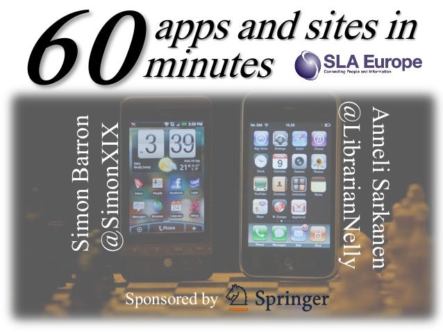 apps and sites in                 minutes                              @LibrarianNelly                              Anneli...