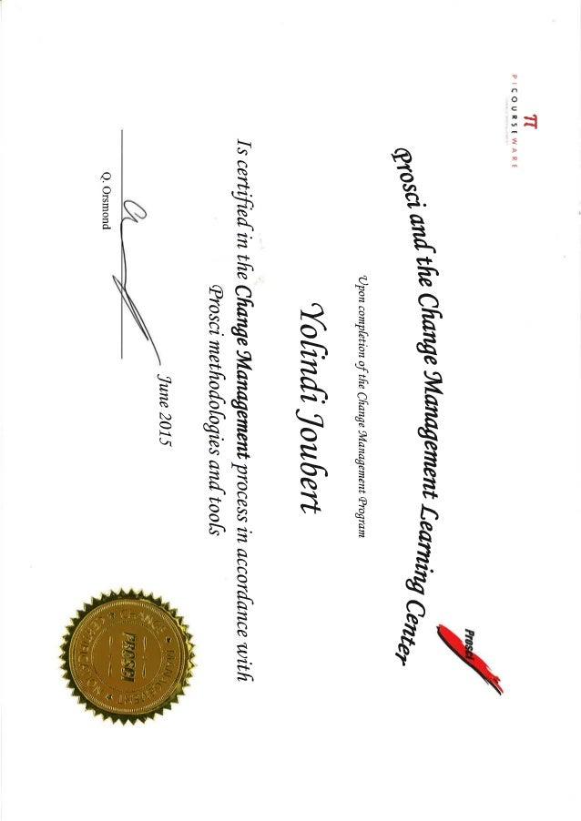 prosci change management certificate slideshare upcoming