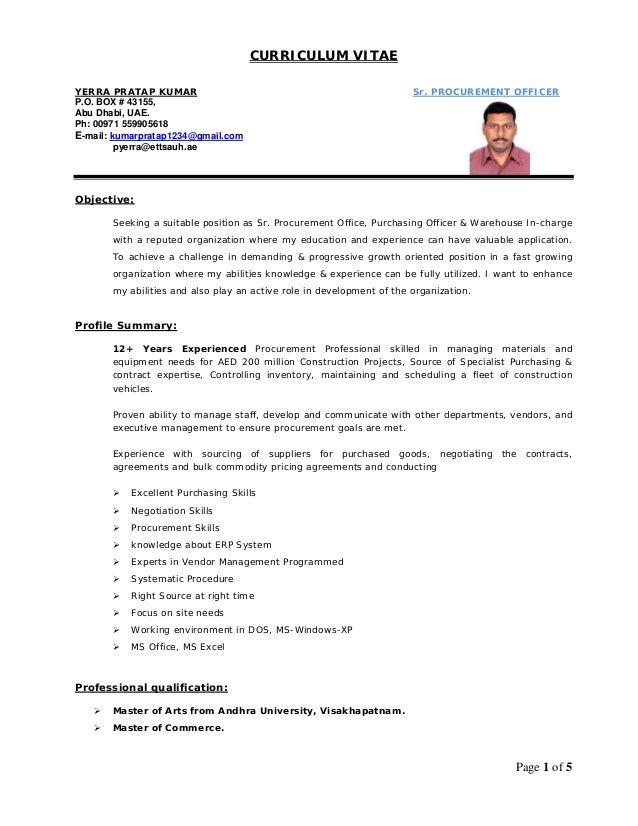 cv procurement