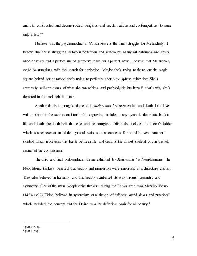 module essay durer s melencolia 6