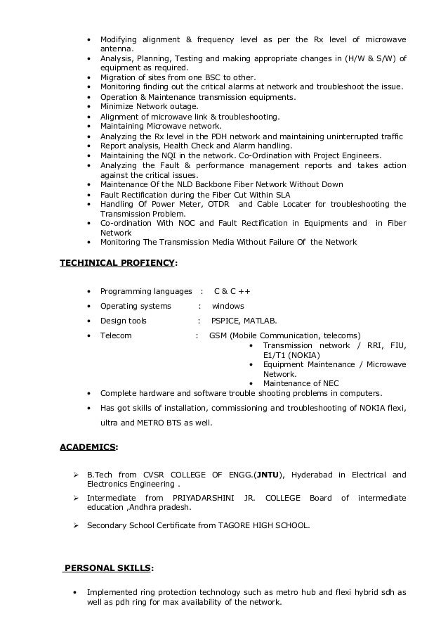 Network Engineer Resume Samples Network Engineer Resume Template Ccna Resume  Format Doc Free Cover Letter Samples