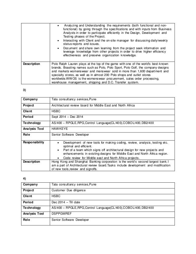 as400 resume samples