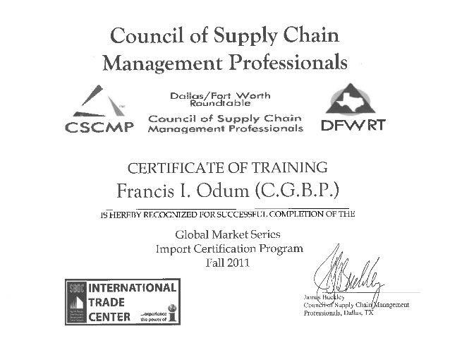 certificate cscmp slideshare upcoming