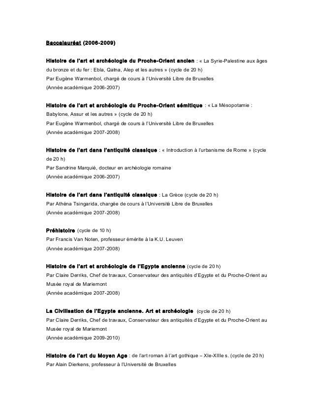Baccalauréat (2006-2009) Histoire de l'art et archéologie du Proche-Orient ancien : « La Syrie-Palestine aux âges du bronz...
