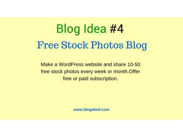 5 Blog Idea 4 Free