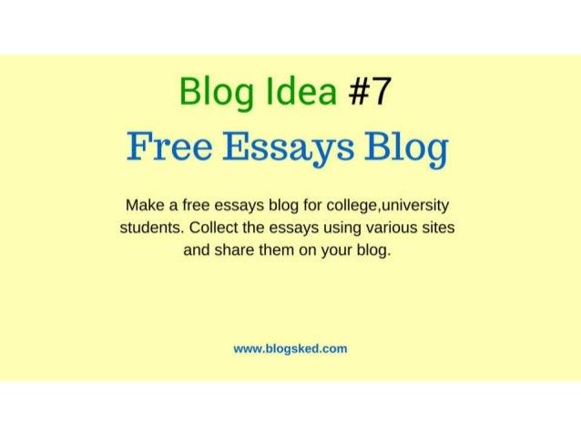 8 Blog Idea