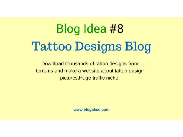 9 Blog Idea