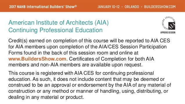 Credit(s) earned on completion of this course will be reported to AIA CES for AIA members upon completion of the AIA/CES S...