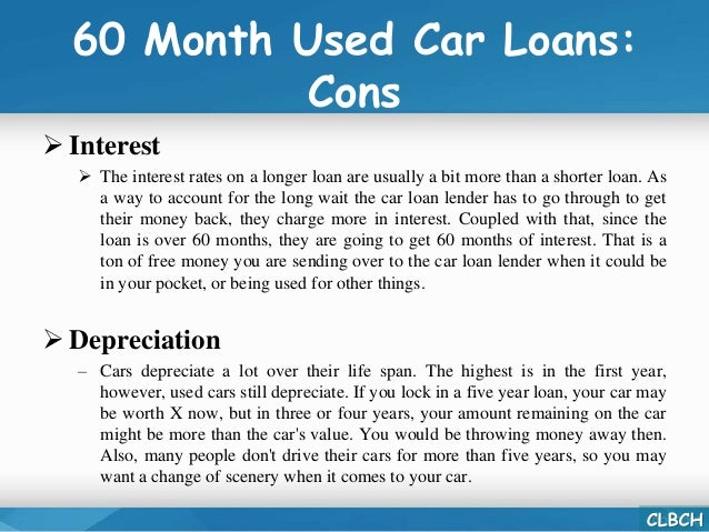 60 Month Used Car Loan