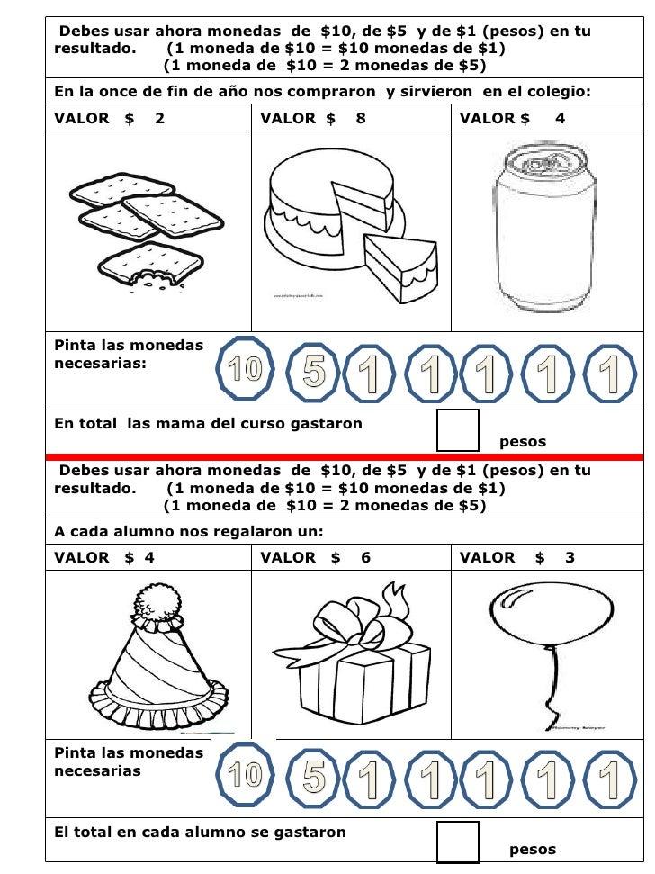 60 problemas de adicion con monedas ambito numerico hasta el 15