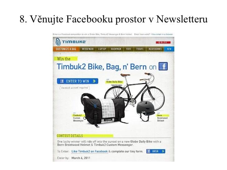 8. Věnujte Facebooku prostor v Newsletteru