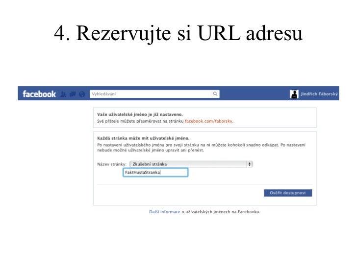 4. Rezervujte si URL adresu