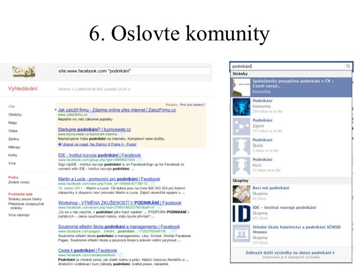 6. Oslovte komunity