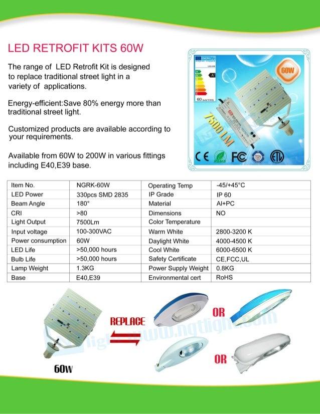 60w led retrofit kits new