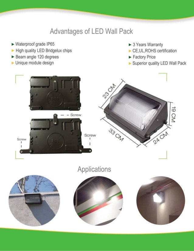 60 w led wall pack neutual version