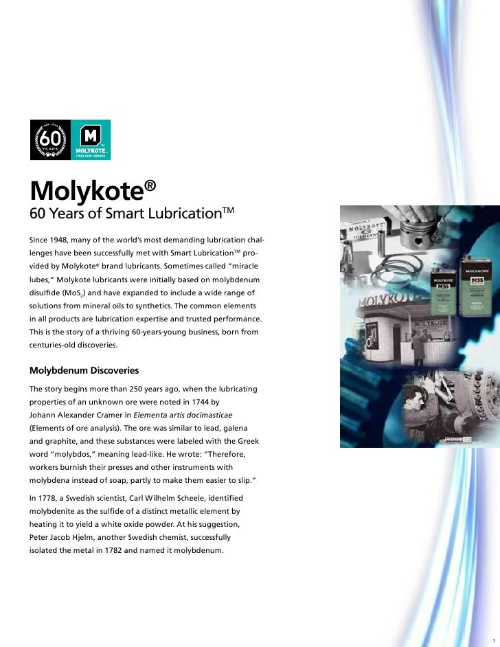 60 years of molykote