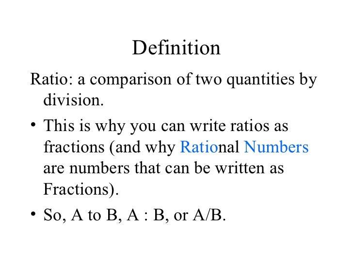 6.1 Ratios And Unit Rates