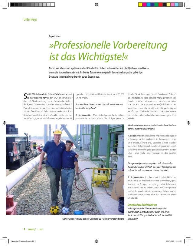 Nach zwei Jahren als Expatriate in den USA steht für Robert Schönwetter fest: (Fast) alles ist machbar – wenn die Vorberei...