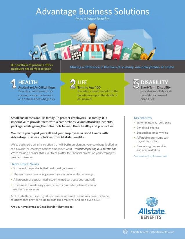 Allstate Employee Benefits >> Advantage Business Solutions Allstate Benefits
