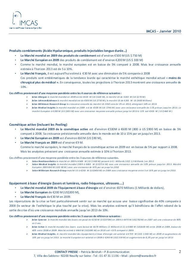 Dossier de Presse IMCAS - PB Communication Slide 2