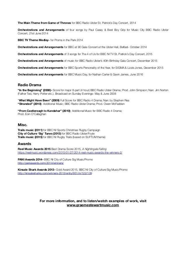 GraemeStewartComposer2016-Credits