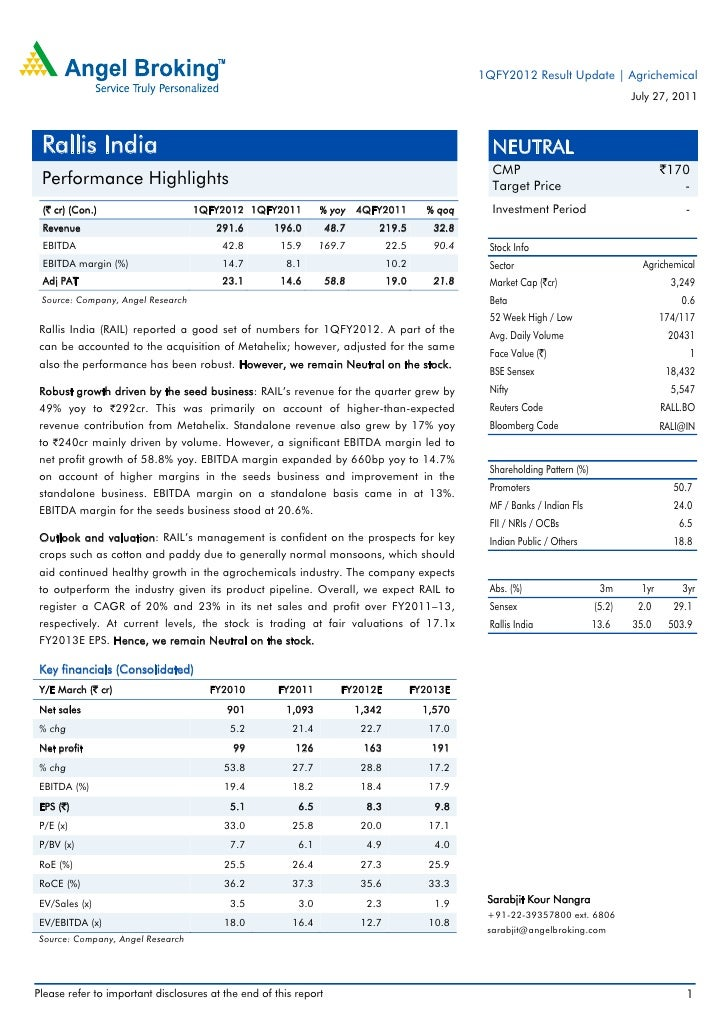 1QFY2012 Result Update | Agrichemical                                                                                     ...