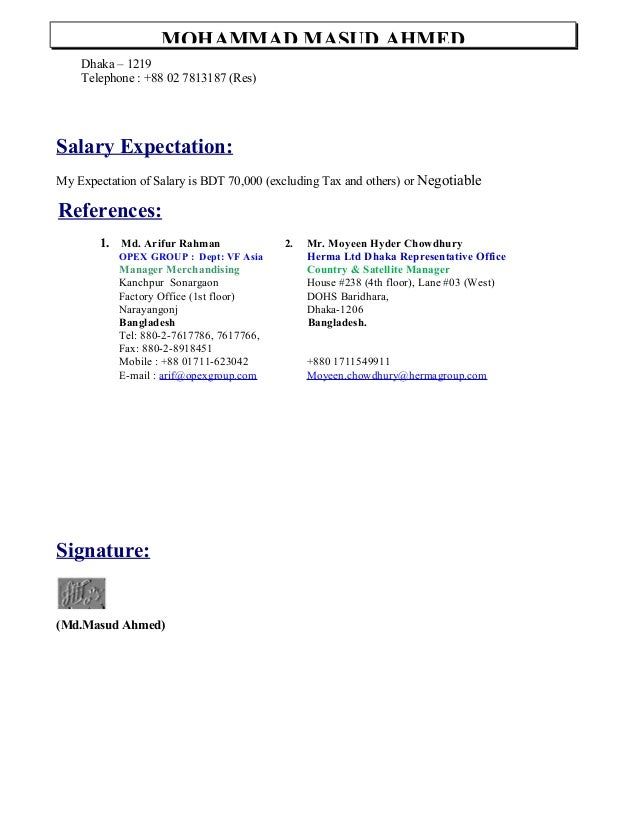 salary expectation cover letter