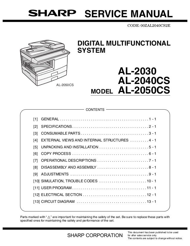 SERVICE MANUAL                                                                                       CODE: 00ZAL2040CS2E  ...