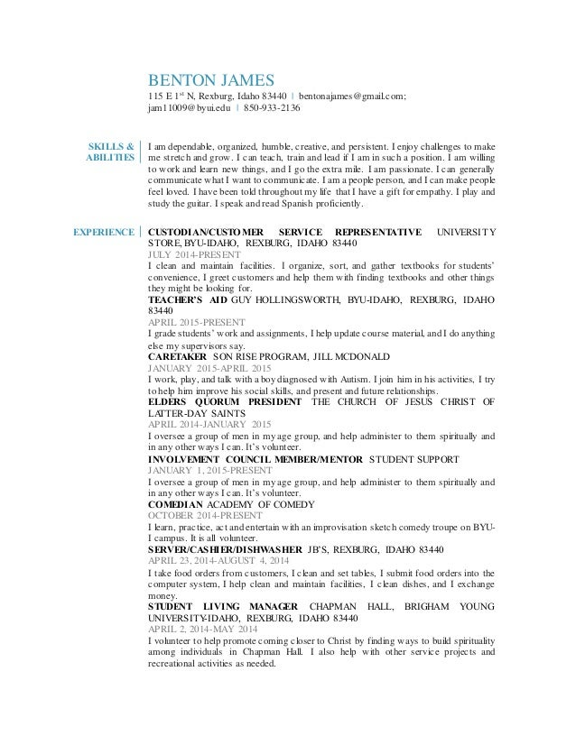 Overall Resume'