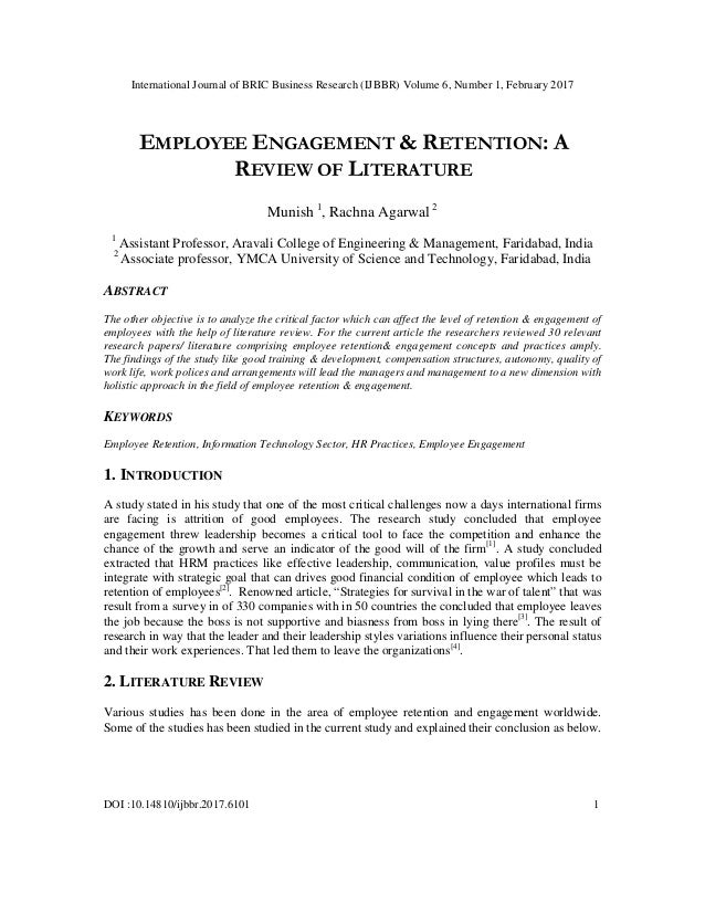research paper on attrition and retention