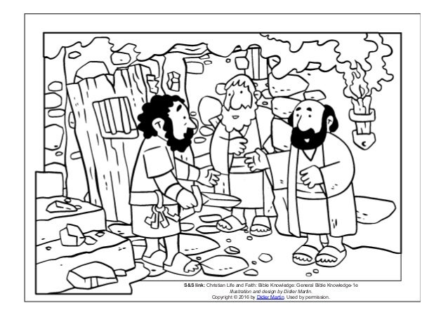 Coloring Page The Acts Of The Apostles Prison Doors And A Jailors