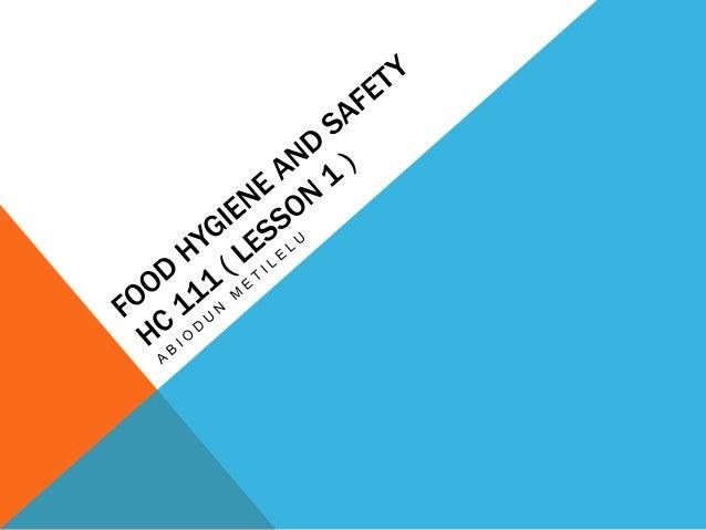 food hygiene health and safety pdf