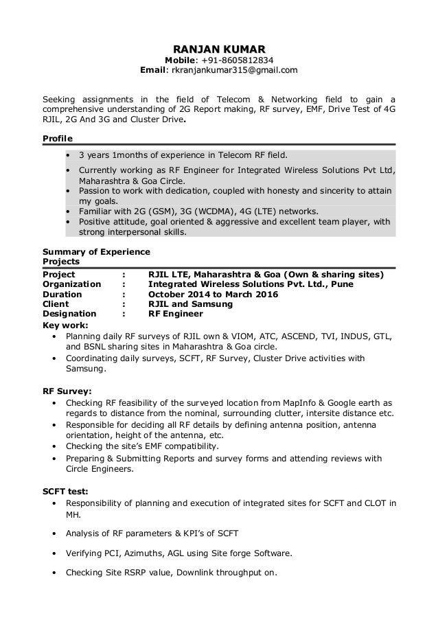 ranjan updated resume