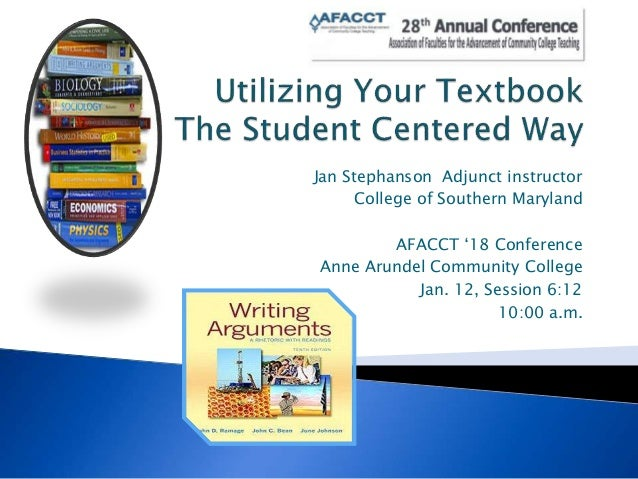 Jan Stephanson Adjunct instructor College of Southern Maryland AFACCT '18 Conference Anne Arundel Community College Jan. 1...