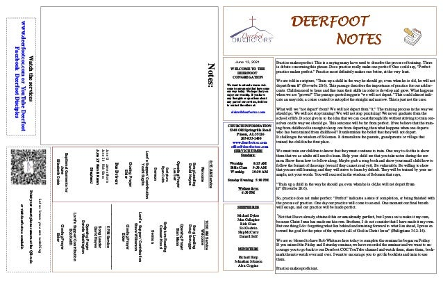 DEERFOOT DEERFOOT DEERFOOT DEERFOOT NOTES NOTES NOTES NOTES June 13, 2021 Let us know you are watching Point your smart ph...