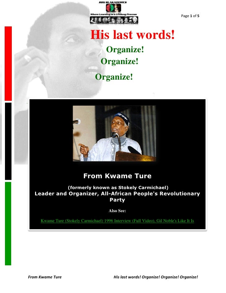 Page 1 of 5                                   His last words!                                          Organize!          ...